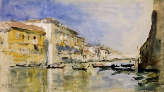 The Grand Canal, Venice circa 1890 by Hercules Brabazon Brabazon 1821-1906