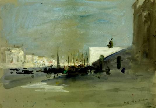 Fondamenta della Salute, Venice null by Hercules Brabazon Brabazon 1821-1906