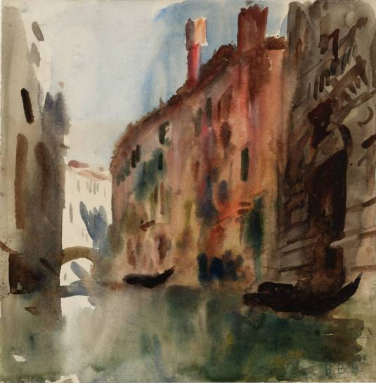 Side Canal, Venice null by Hercules Brabazon Brabazon 1821-1906
