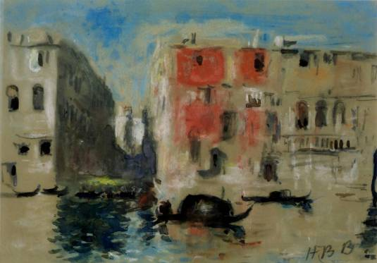 Canal in Venice null by Hercules Brabazon Brabazon 1821-1906
