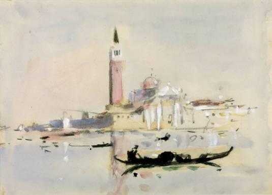 Scene in Venice null by Hercules Brabazon Brabazon 1821-1906