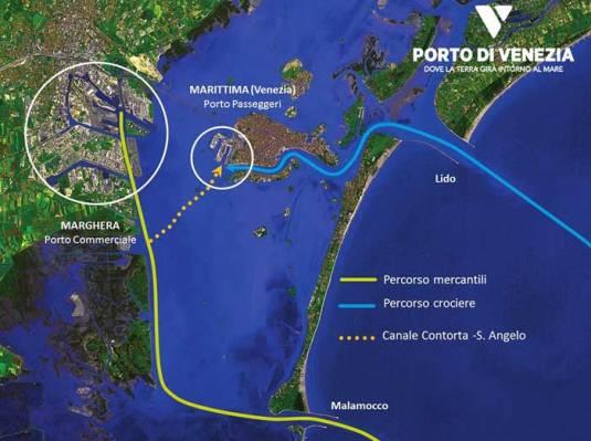 Carte du Canale Contorta - Venise