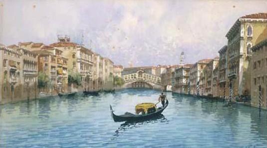 Venezia, gondole a Rialto