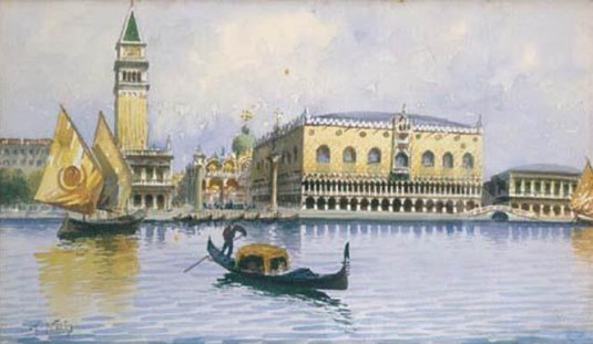 Venezia, gondole e vele a S. Marco