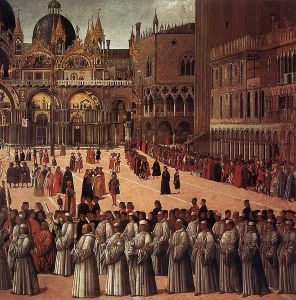 Gentile Bellini - Processions sur la piazza San Marco