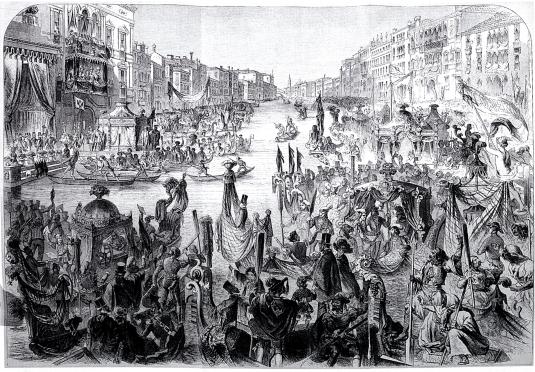1856 Regata Storica - gravure