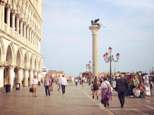 Tournage Venise pour Echappées Belles avec Busato Davide.
