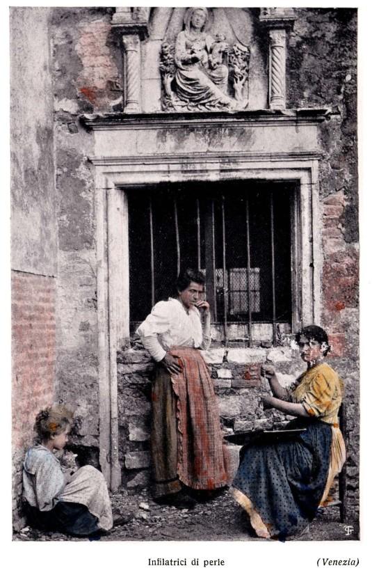 Venezia. Infilatrici di perle (Impiraresse)
