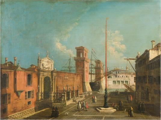 Albotto - Veduta del campo e delle porte dell Arsenale