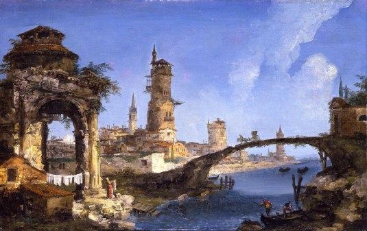 Marieschi - Capriccio avec une ruine et une arche