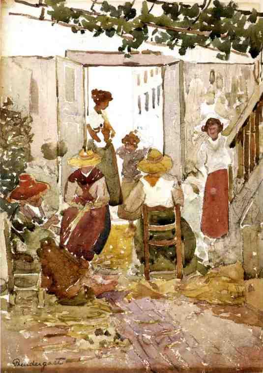 Maurice Prendergast - Femmmes vénitiennes