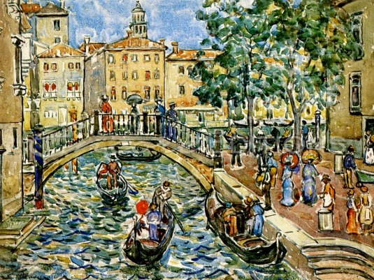 Maurice Prendergast - Scène de Venise