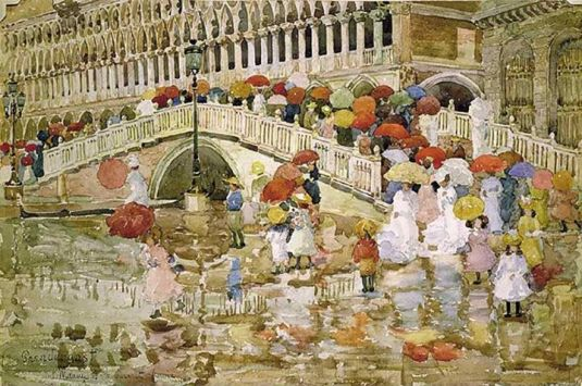 Ombrelles sous la pluie - Maurice Prendergast
