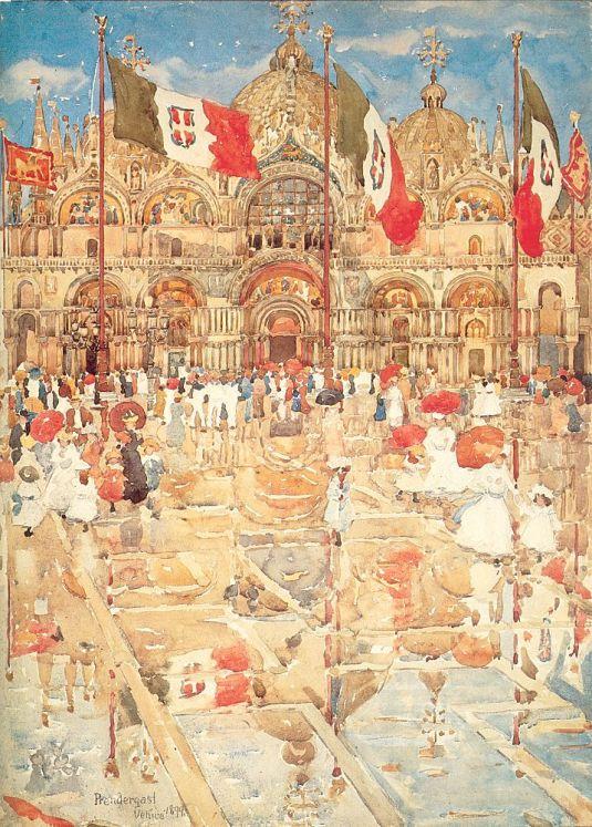 San Marco sous la pluie et le soleil - Maurice Prendergast