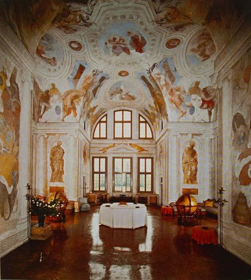 Interieur de la villa Foscari à Mira