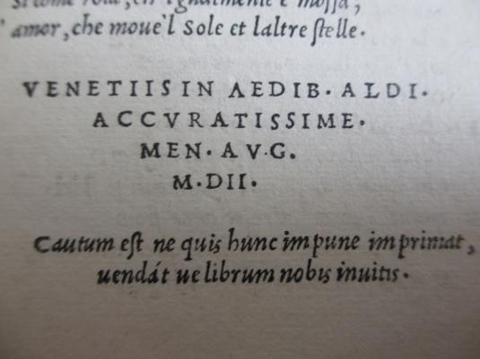 Catalogue des éditions aldines