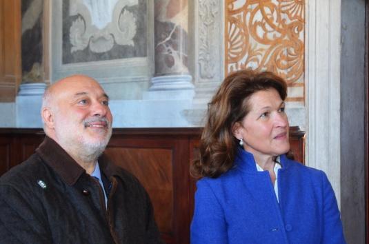 Domenico Cuttaia, Préfet de Venise, et Renata Codello, Surintendante pour les Beni Architettonici e Paesaggistici di Venezia e Laguna