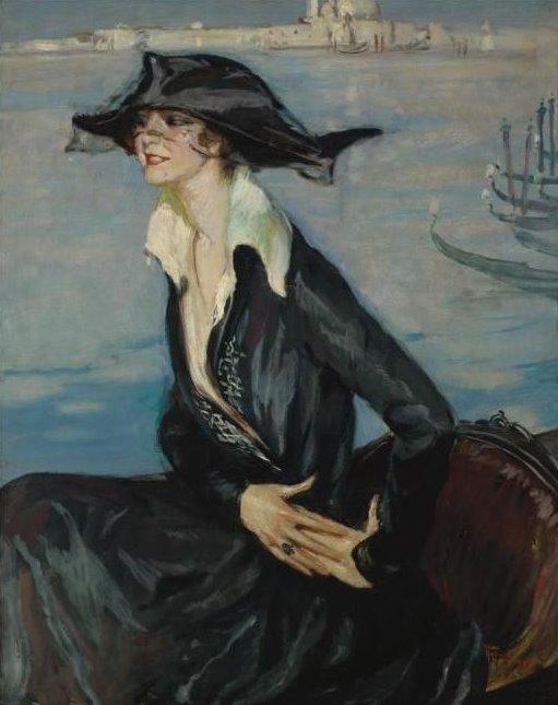 Jean-Gabriel Domergue , Femme en noir à Venise