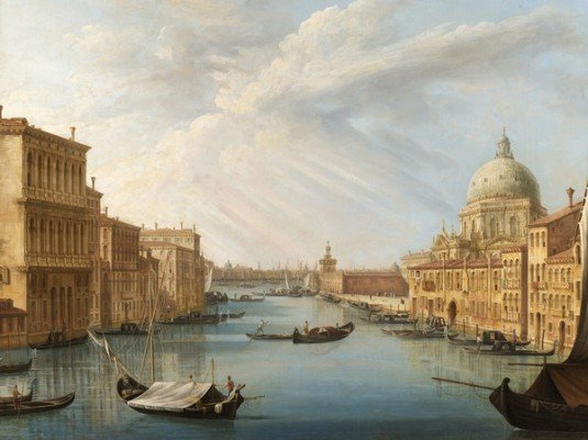 Pietro Bellotti, L'ingresso del Canal Grande con la basilica della Salute,