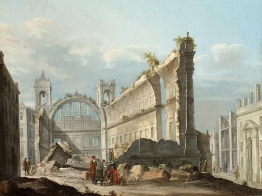 Pietro Bellotti, La Chiesa di San Nicola a Lisbona dopo il terremoto del 1 novembre (1755)