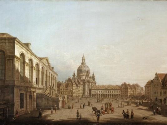 Pietro Bellotti, Dresda: il mercato nuovo dallo Jüdenhof