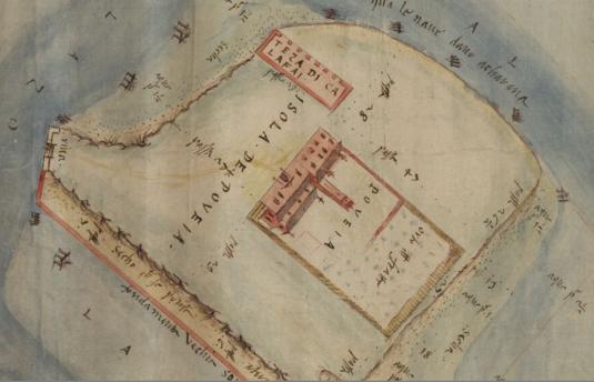 Archivio di Stato di Venezia, Savi ed Esecutori alle Acque, dis. 155 Poveglia nel XVI secolo