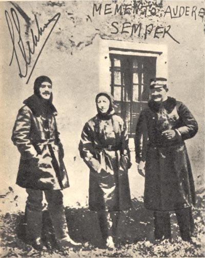 De gauche à droite : Luigi Rizzo, Gabriele D'Annunzio et Costanzo Ciano