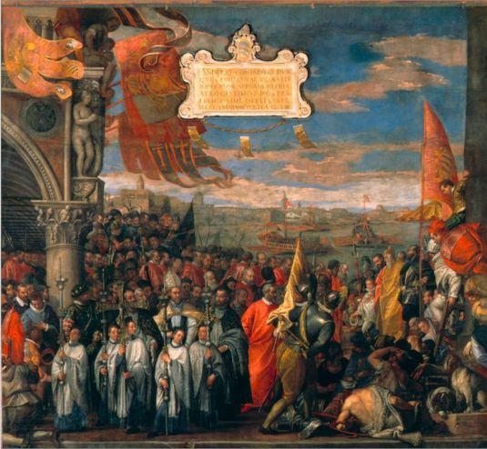 Le doge Contarini revient victorieux de Chioggia