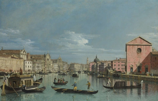 Le Grand Canal devant Santa Croce