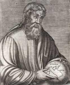 Strabon, en grec ancien Στράϐων / Strábôn, qui louche, en latin Strabo