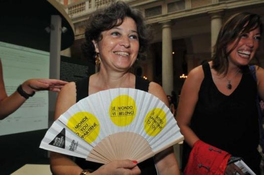 Venezia, 01/09/2012 - Inaugurazione d ella mostra la voce delle immagini Palazzo Grassi -