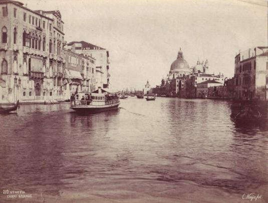Venise vers 1900 - vaporetto de la serie Regina Margherita