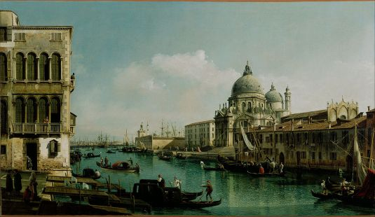Vue du Grand Canal et de la Douane de mer