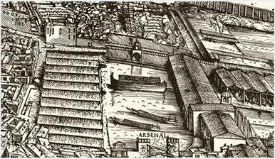 Bucentaur-JacopodeBarbari-PiantadiVenezia-1500-detail