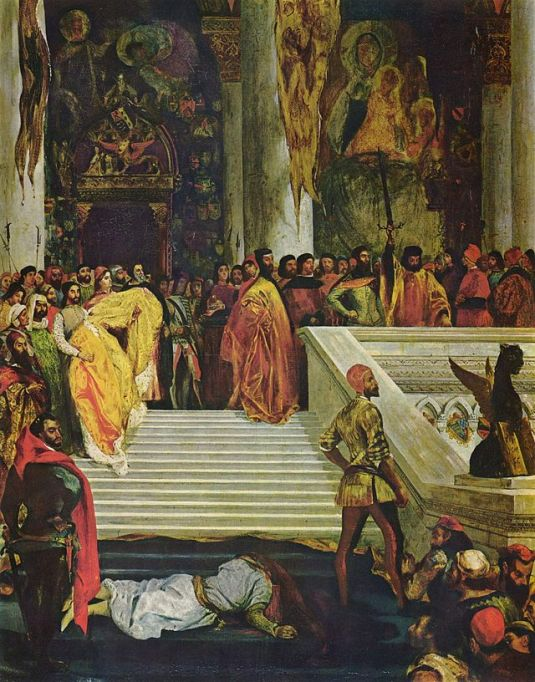 L'exécution de Marino Faliero par Eugène Delacroix, 1827