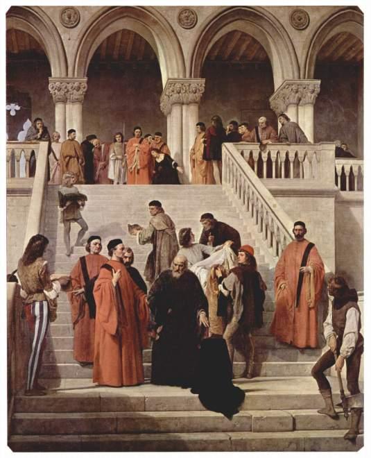Francesco Hayez, La dernière heure du Doge Marino Faliero, Milan, Academia di Belle Arti di Brera