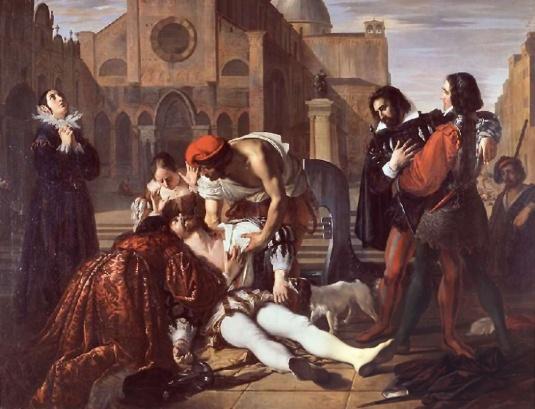 Giuseppe Bezzuoli - Lorenzino de' Medici assassinato