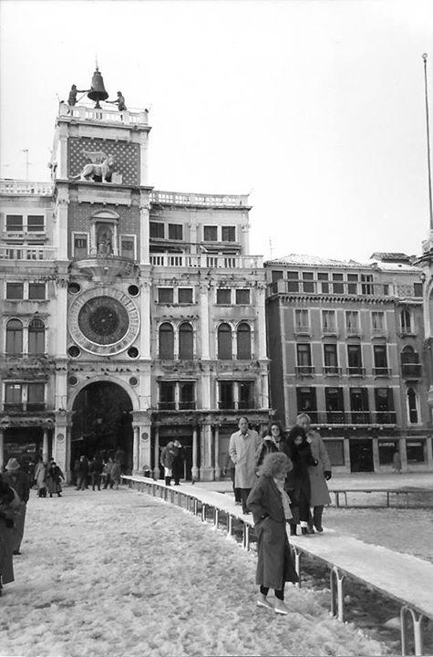 Piazza San Marco sous la neige