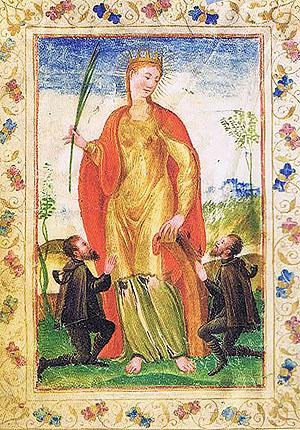 Santa Caterina d'Alessandria Sanite patronne des coursiers de la Poste