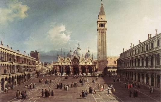 Canaletto - Place St Marc avec la basilique - 1730