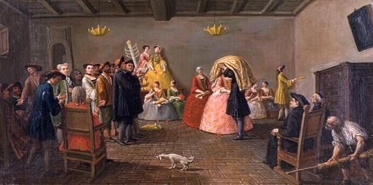 Marco Marcuola - Un mariage juif, Venise, vers 1780