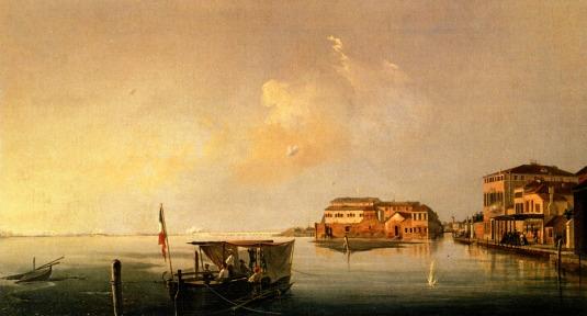 Luigi Querena, Bombardamento di Venezia, visto da Santa Chiara