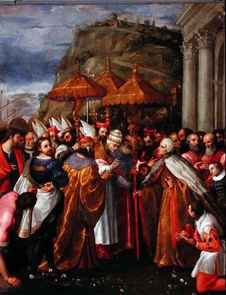 Paisx de venise : l'empereur Barberousse et le doge se rencontrent