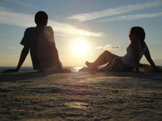 Olia & Klod sur la plage du Lido de Venise