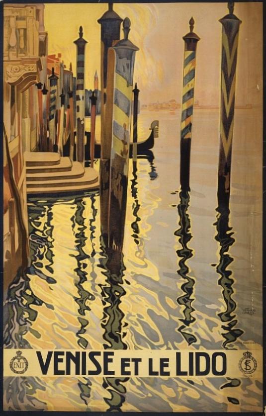 Venise et le Lido - Affiche de Vittorio Grassi, 1920