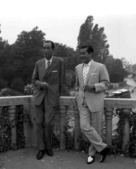 Akira Kurosawa et Tishiro Mifune