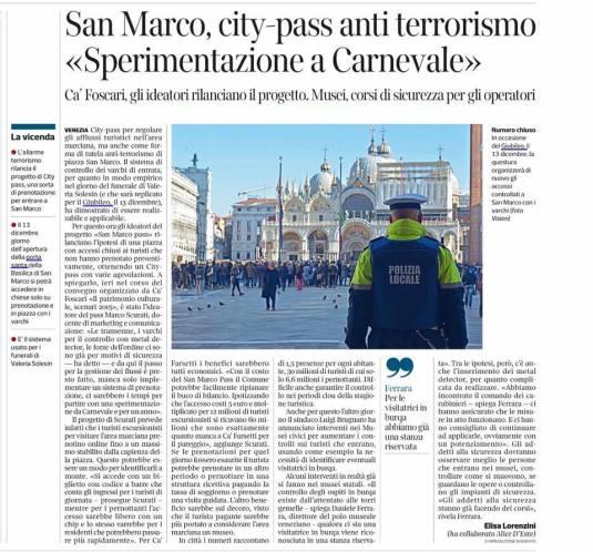 Anti terrorismo per Carnevale