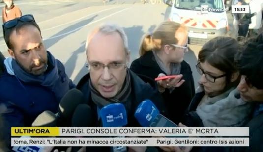 Le consul d'Italie à Paris, Andrea Cavallari, confirme la mort de Valeria