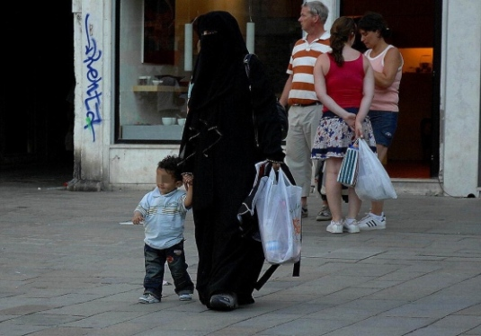 burqa a Venise