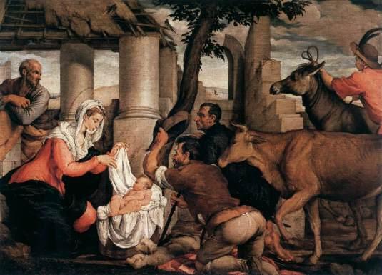 Jacopo Bassano - Adoration des bergers
